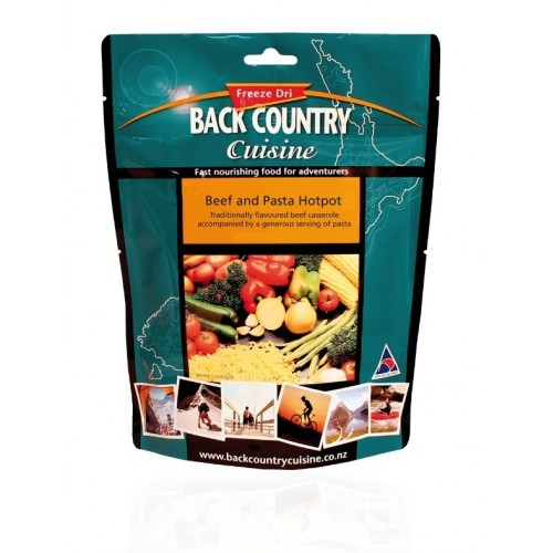 BACK COUNTRY CUISINE - BEEF & PASTA HOTPOT