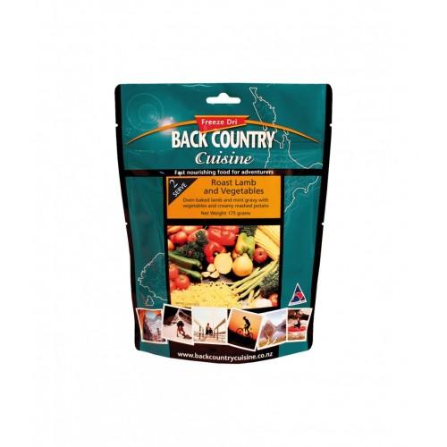 BACK COUNTRY CUISINE - ROAST LAMB AND VEG